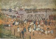Maurice Prendergast The East River oil painting picture wholesale