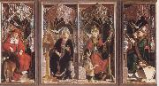 PACHER, Michael Altarpiece of the Earyly Chuch Fathers oil painting picture wholesale