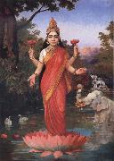 Raja Ravi Varma Goddess Lakshmi oil painting picture wholesale