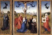 Rogier van der Weyden Crucifixion triptych with SS Mary Magdalene and Veronica oil painting picture wholesale