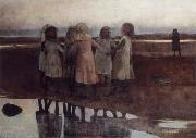 William Stott of Oldham The Kissing Ring oil painting artist
