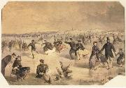 Winslow Homer Skating in Central Park oil painting picture wholesale