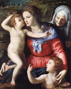 Agnolo Bronzino The Madonna and Child with Saint John the Baptist and Saint Anne oil painting picture wholesale
