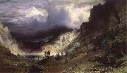 Albert Bierstadt Ein Sturm in den RockY Mountains,Mount Rosalie oil painting picture wholesale