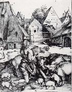 Albrecht Durer The Prodigal Son Amid the Swine oil painting picture wholesale
