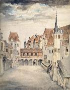 Albrecht Durer The Courtyard of the Former Castle in Innsbruck oil painting picture wholesale