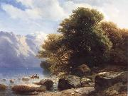 Alexandre Calame THe Lake of Thun oil painting