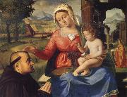 Andrea Previtali The Virgin and Child with a Donor oil