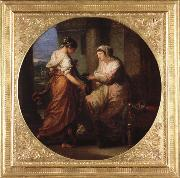 Angelika Kauffmann Elektra gibt ihre Schwester Chyrsothemis ihren Gurtel und die Locken des Orest fur das Grab Des Agamemnon oil painting picture wholesale