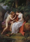 Angelika Kauffmann Amor und Psyche oil painting picture wholesale