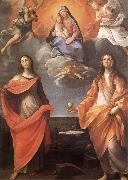 Annibale Carracci The Virgin appears before San Lucas and Holy Catalina oil painting picture wholesale
