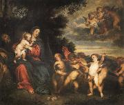 Anthony Van Dyck The rest in the flight to Egypt oil painting picture wholesale