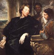 Anthony Van Dyck Portrait of GeorgeGage with Two Attendants oil painting picture wholesale