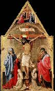 Antonio da Firenze Crucifixion with Mary and St John the Evangelist oil painting