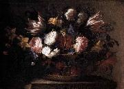 Arellano, Juan de Still-Life with a Basket of Flowers oil painting