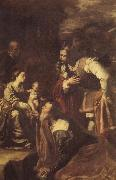 Artemisia gentileschi The adoracion of the Kings Magicians oil