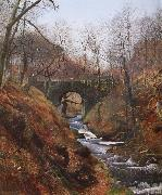 Atkinson Grimshaw Ghyll Beck Barden Yorkshire Early Spring oil painting picture wholesale