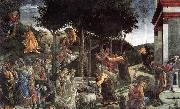 BOTTICELLI, Sandro Scenes from the Life of Moses oil painting picture wholesale