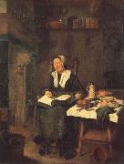 BREKELENKAM, Quiringh van A Woman Asleep by a Fire oil painting picture wholesale