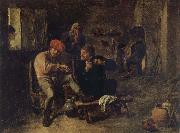 BROUWER, Adriaen Scene in a Tavern oil painting reproduction