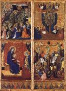 Barnaba Da Modena THe Coronation of the Virgin ,the trinity,the tirgin and child,the Crucifixion oil painting picture wholesale