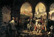 Baron Antoine-Jean Gros Napoleon Bonaparte Visiting the Plague-stricken at Jaffa oil painting picture wholesale