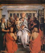 Bartolomeo Suardi The Madonna and the Nino with eight holy oil painting picture wholesale