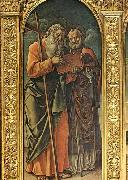 Bartolomeo Vivarini Sts Andrew and Nicholas of Bari oil painting picture wholesale