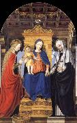 Bergognone The Virgin and Child Enthroned with Saint Catherine of Alexandria and Saint Catherine of Siena oil painting picture wholesale