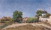 Camille Pissaro The Crossroads,pontoise oil painting picture wholesale