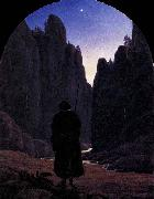 Carl Gustav Carus Pilgrim in a Rocky Valley oil painting picture wholesale