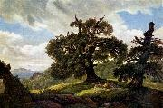 Carl Gustav Carus Oaks at the Sea Shore oil painting picture wholesale