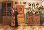 Carl Larsson Tuixt Christmas and New Years oil painting picture wholesale