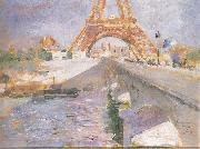 Carl Larsson The Eiffel Tower Under Construction oil painting artist
