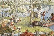 Carl Larsson The Crayfish Season Opens oil painting picture wholesale
