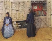 Carl Larsson Mother and Daughter oil painting picture wholesale
