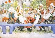 Carl Larsson Kersti-s Birthday oil painting picture wholesale