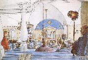 Carl Larsson At Church oil painting picture wholesale