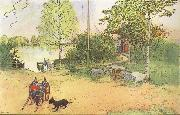 Carl Larsson Our Coourt-Yard oil painting picture wholesale