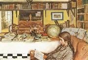 Carl Larsson The Reading Room oil painting picture wholesale