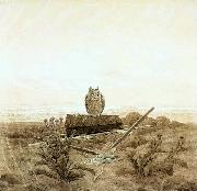 Caspar David Friedrich Landscape with Grave, Coffin and Owl oil painting picture wholesale