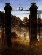 Caspar David Friedrich The Cemetery Entrance oil painting picture wholesale