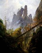 Caspar David Friedrich Rocky Ravine oil painting picture wholesale