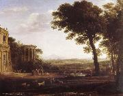 Claude Lorrain Country cape with the father of Psyche that at Apollo sacrifices oil painting picture wholesale