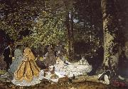 Claude Monet sketch for De picnic Shut down oil painting picture wholesale
