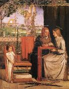 Dante Gabriel Rossetti The infancy of Maria oil painting picture wholesale