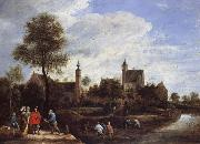David Teniers A View of her Sterckshof Near Antwerp oil painting picture wholesale