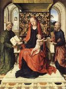 Dieric Bouts The Virgin and Child Enthroned with Saints Peter and Paul oil painting picture wholesale