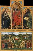 EYCK, Jan van Altarpiece of Ghent oil painting picture wholesale
