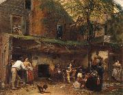Eastman Johnson Das Leben im Suden oil painting picture wholesale
